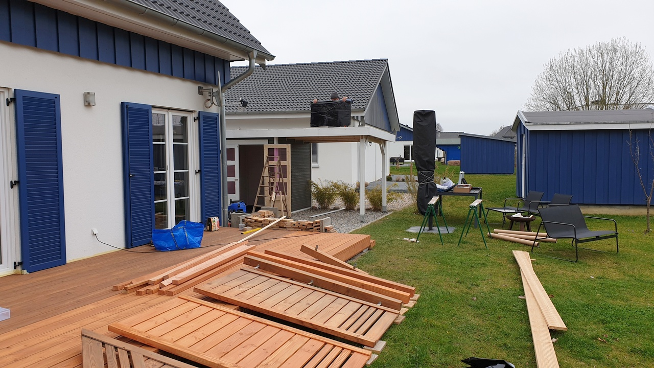 Construction work on a holiday home